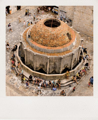 dubrovnik from above in polaroid (tara.m.) Tags: travel wall polaroid europe tourists dubrovnik