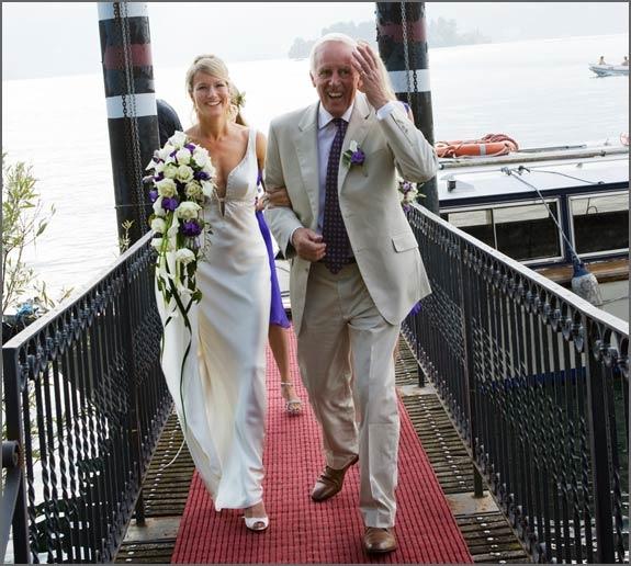 Wedding boat trip on Lake Maggiore
