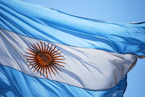 Is the Argentine flag winking at me?