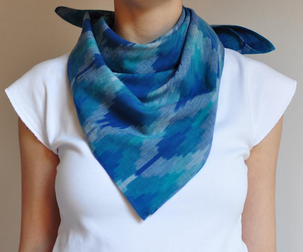 m a n i fold: lucky luke ikat scarf (sold)