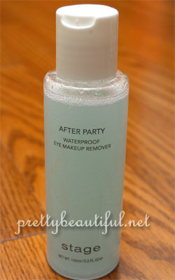 Stage After Party Waterproof Eye Makeup Remover after shaking
