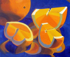 """Orange Slices""   Sold (Leigh-Anne Eagerton, painting) Tags: life portrait stilllife food house dice kitchen cookies birds fruit buildings garden painting insect skull still doll candy contemporary paintings martini drinks alcohol oil eggs movies apples firehouse recent oilpainting applepainting eggspainting vacuumcleanerpainting peepspainting oliveoilpainting cantelopepainting"