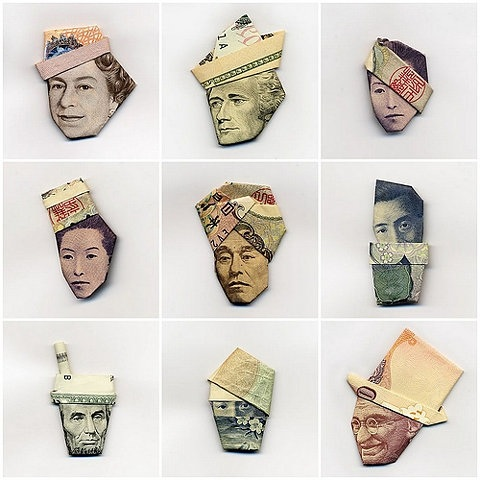 Origami money hats