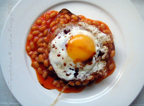 Fried Egg and Beans on Toast - Weekend Breakfast