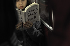 Subway Reader (Dan Goorevitch (busy)) Tags: woman toronto color colour girl contrast subway book innocent dangoorevitch dangoorevitchdotcom wwwdangoorevitchcom dangoorevitch