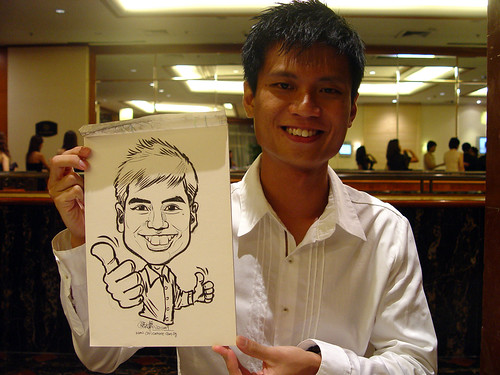 Caricature live sketching for wedding dinner 221109 - 16