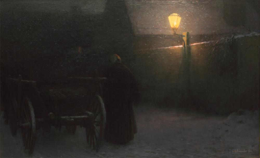 Jakub Schikaneder, Snow, 1899