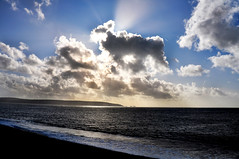 hurst castle needles (Meyrick Ames) Tags: sea sunlight clouds coast nikon south ames needles sunbeams d90 meyrick herstcastle meyrickames