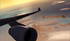 Cathay Pacific Airways A330 (aViaTioNuT) Tags: sunset cx screenshots boeing soe b747 flightsimulator fsx coth wingview cathaypacificairways b744 platinumheartaward goldstaraward rubyphotographer