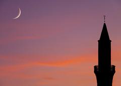 two moons (ssj_george) Tags: leica sunset sea two sky orange moon beach colors silhouette clouds temple lumix evening twilight purple wind minaret magic religion cyprus windy mosque panasonic moons cami nigh larnaca nighshot παραλία φεγγάρι foinikoudes τζαμί κύπροσ georgestavrinos λάρνακα φοινικούδεσ fz38 fz35 ssjgeorge γιώργοσσταυρινόσ