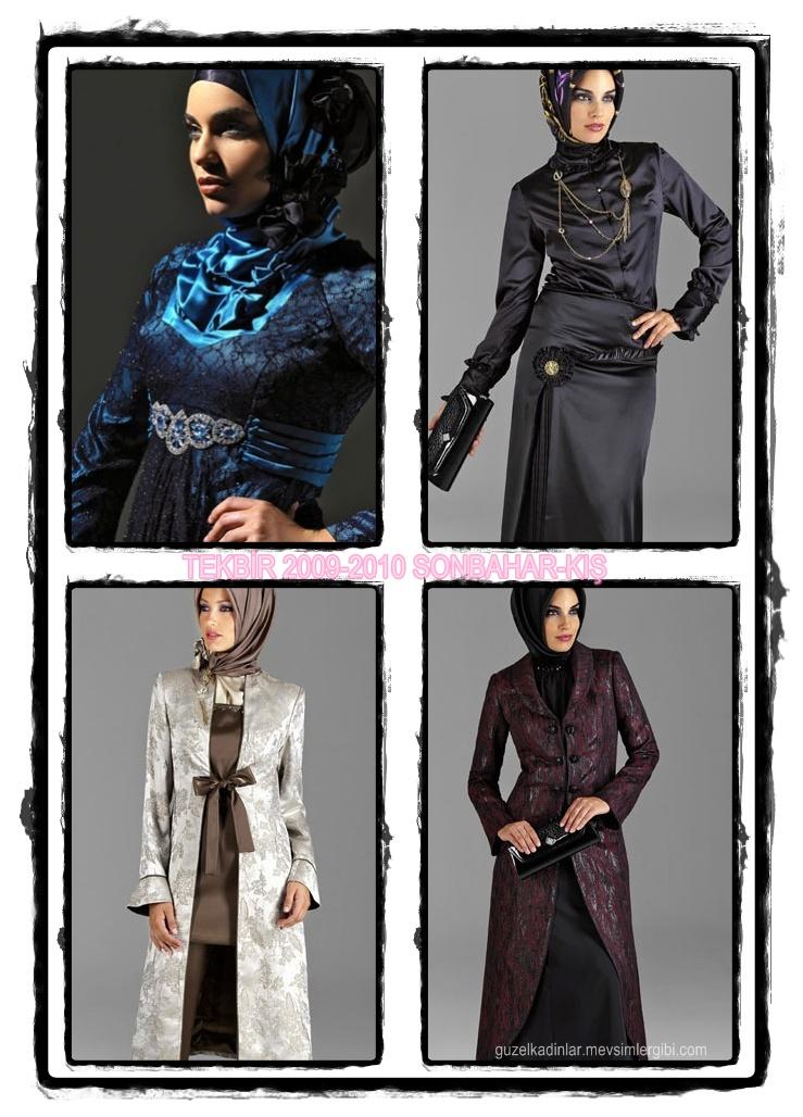 İçin Tesettürlü Kapalı Muhafazakar Elbise ve Abiye Modelleri