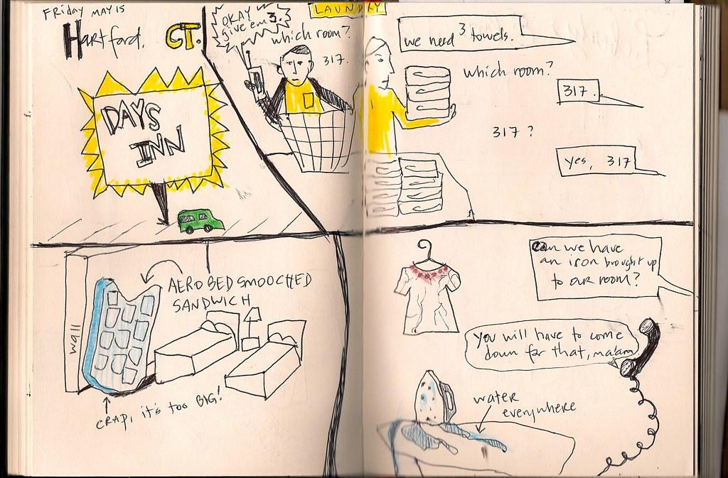 Tour Doodle 2009: Pages 4 & 5