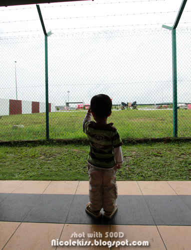 little boy at lcct airport
