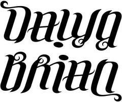 """""""Dawn"""" & """"Brian"""" Ambigram"""