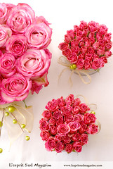 Pink rose centerpieces (L'esprit Sud Magazine) Tags: pink flowers winter wedding roses holiday blog holidays round romantic bridal simple weddingflowers floraldesign specialoccasions centerpieces weddingbouquet onlinemagazine bridaldesign lespritsudmagazine exoticchristmas brbridal freshflowerideas dazzlingflowerideas lespritsudmagazinebridaldesign