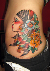 gitana... (piranhart) Tags: tattoo traditional oldschool hips piranha tatuaje gipsy gitana caderas
