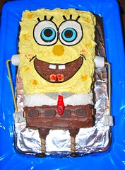 Spongebob cake made by CSP's mom