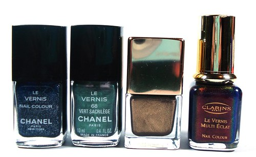Chanel, Louis Vuitton, Clarins