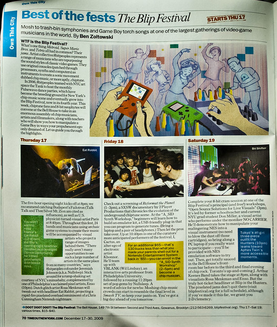 Blip festival in Time Out NY