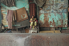 Pipe Trio (Meanest Indian) Tags: people india children women bombay mumbai maharastra slum dharavi