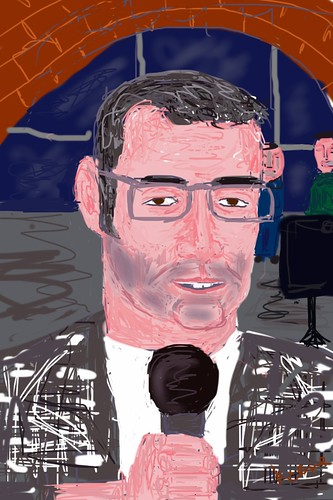Salvatore Padrenostro, Italian poet (iPhone drawing)