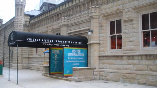 Chicago Public Library mini-branch at Water Tower