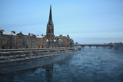 Perth, Snow & Ice on the River Tay (Beange) Tags: snow ice rivertay perth stmatthews smeatonsbridge