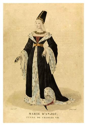 004-Marie D'Anjou esposa de Carlos VII-Galerie Française de femmes célèbres 1827- Louis Marie Lanté