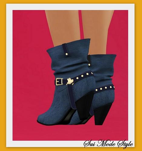 Free Denim Boots
