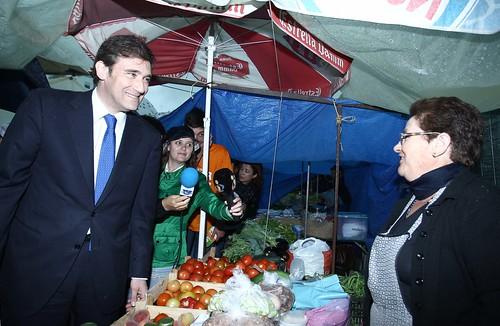 Pedro Passos Coelho visita o Mercado de Quarteira