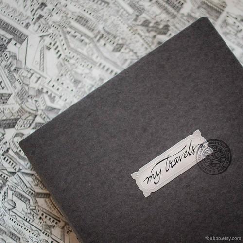 custom cover for travel journal