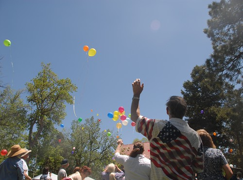 Memorial Day balloon release