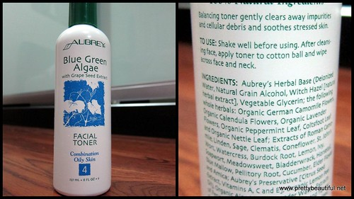 Aubrey Blue Green Algae with Grape Seed Extract Facial Toner