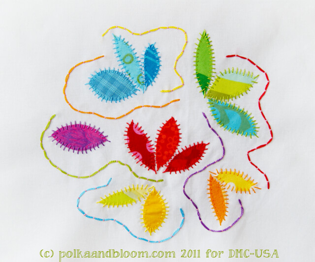 Blue Leaf Appliqué