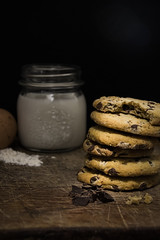 (Brucato Sara) Tags: cookie biscotto milk latte still life light good bisque well nice eggs flour wood uova farina legno recipes apetibile esposizione reflex istant ombre art nikon luci