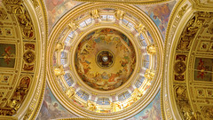 The dome of St. Isaac's Cathedral in Saint-Petersburg (pavelonline57) Tags: domes dome stisaacscathedral saintpetersburg russia temple light attractions history beaut magnificence путешествуйтепороссии