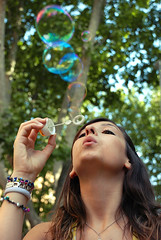 Like a Child (Studio Neko) Tags: game roma girl soup soap sara child play bubbles blowing blow di soapbubbles bolle sapone soffia nikond80