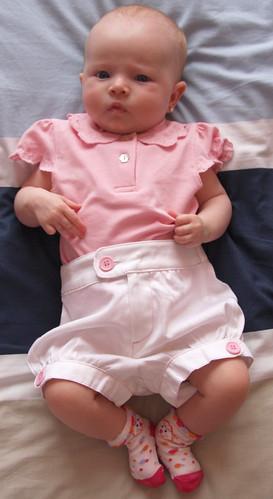 Nora White Shorts Pink Top