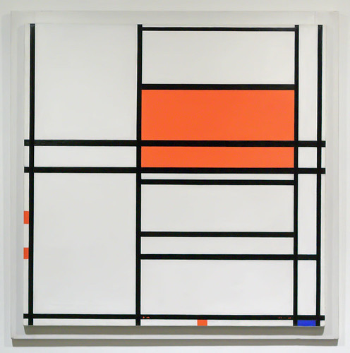 "Oil painting, ""No. 4"", Piet Mondrian, Dutch, 1938-1942, at the Saint Louis Art Museum, in Saint Louis, Missouri, USA"