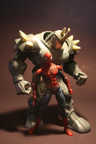 black spiderman vs rhino - photo #26