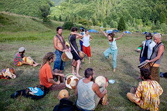 Djembe dance on Rainbow gathering (Swiatoslaw Wojtkowiak) Tags: music mountains rainbowgathering dance rainbow drum african djembe percussion ukraine gathering hippie drumming easterneurope rhythm ukraina carpathian 1630 ucraina rhytm  ukrajna ucrnia oekrane