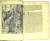 Woodcut and coloured initials from Sibylla, Bartholomaeus: Speculum peregrinarum quaestionum