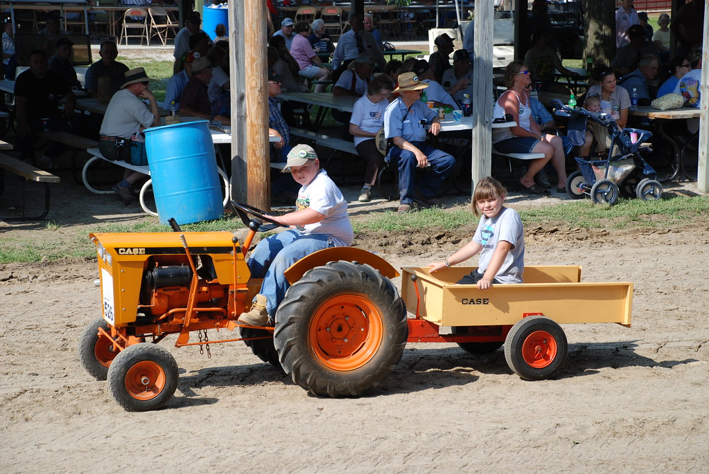 Case Garden tractor with wagon