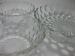 Bubble Bowl Set (jenscloset) Tags: china blue green yellow vintage glasses book aqua c