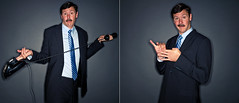 Brad Wiggins (isayx3) Tags: portrait brad 35mm grey office nikon ray flash explore charcoal adapter backdrop f2 365 nikkor frontpage employee d3 facebook wiggins sb800 strobist rayflash rayringflash isayx3