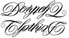 """Dernehl Clothing"" Ambigram Sketch"