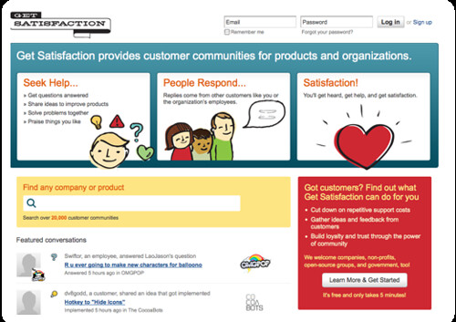Get Satisfaction - People-Powered Customer Service