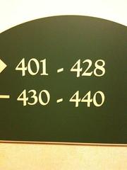 I was room 429 ...