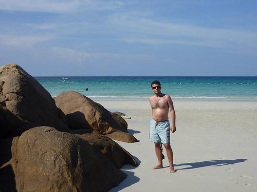Richy e le rocce che ricordano le Seychelles