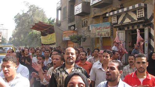مظاهرة عمال ابوالسباع بالمحلة by you.